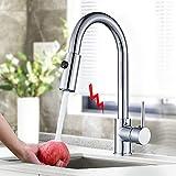 Onyzpily Chrom Niederdruck Wasserhahn Küche Spültischarmatur Armatur Kueche Küchenarmatur mit Brause Ausziehbar