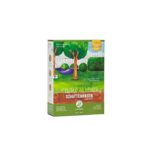 Plantura Schattenrasen, 2 kg, Rasensamen für Schatten, Premium-Saatgut …