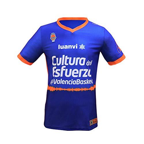 Valencia basket Camiseta de cancha ACB, Adultos Unisex, Azul, S