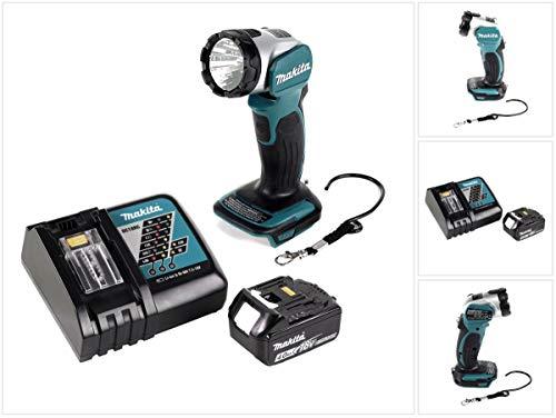 Makita DML 802 M1 Lampe de poche 18 V Li-Ion pour batterie 14,4 et 18 V + 1 batterie 4 Ah + chargeur