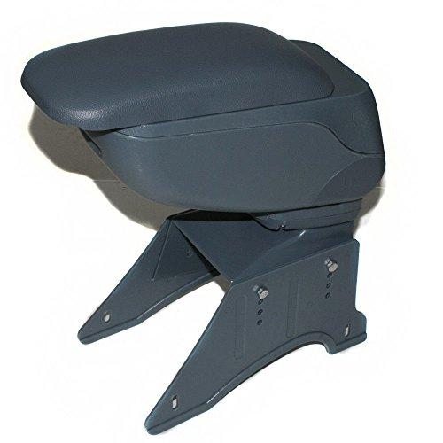 CarJoy, 48016,bracciolo centrale per console, universale, con contenitore, in ecopelle, colore grigio