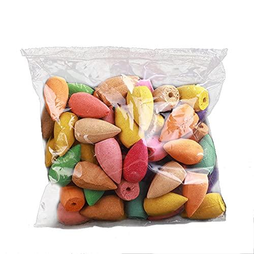Feixing Conos de incienso de reflujo, paquete de 30/60/100/300/600, aroma mixto, aroma natural, lavanda, sándalo, aloes y más