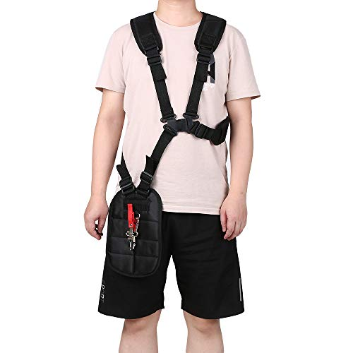 Why Choose Tickas Trimmer Shoulder Strap,Comfort Strap Double Shoulder Mower Trimmer Harness Strap f...