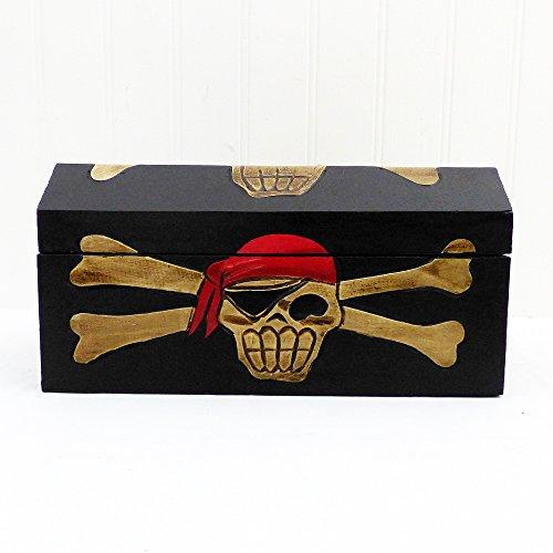 Buccaneers pirata con cofre del tesoro