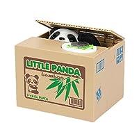 Witzige elektronische Trickspardose, die Auf den ersten Blick wie eine kleine Obstkiste aussieht Die münzen auf die schaltfläche auslösen, wird kleiner panda kommen, um geld zu stehlen. Panda form ist sehr nett,Exquisite verarbeitung, hohe kapazität....