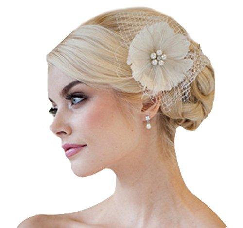 Unbekannt Braut Haarschmuck Haarblume Fascinator Blüte Blume Netz Haargesteck Hochzeit