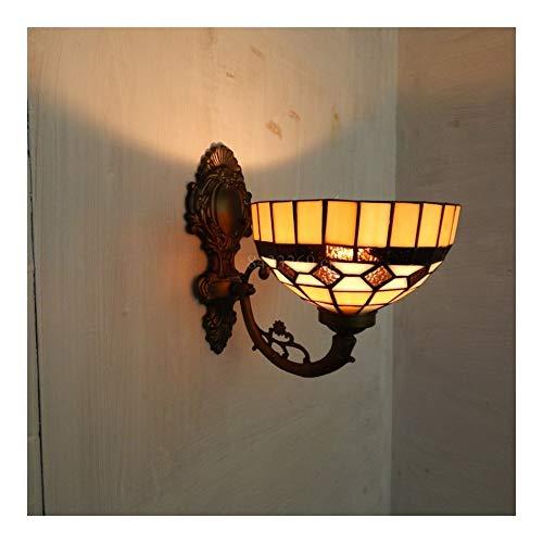 Wandlamp met vitrail voor decoratie thuis, in Europese stijl, bloemenmotief, handgemaakt 8s30-16w14