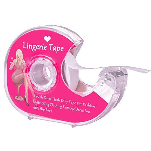Boob Body Tape Transparenter Stoff Starkes doppelseitiges Klebeband für Kleidung, Kleid, BH, Haut, Bikini, 10 m