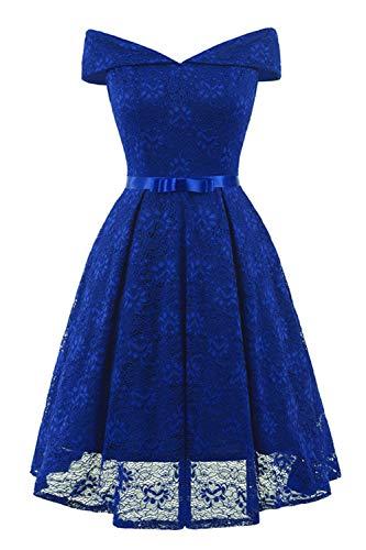 Sportswear-MZ Vestido 2020 Ebay Ribbon Lace Sexy Dress-Color Azul (Personalizado) _L