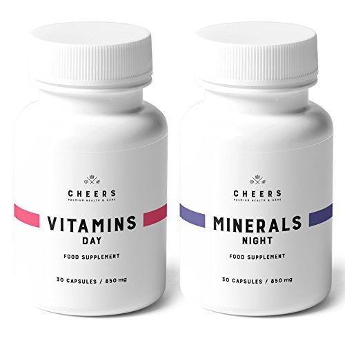 MultiVitamins and Minerals Formula - 2x 30 Vegan Kapseln - Multivitamin und Mineral Tabletten - Vitamin Ergänzungsmittel mit Rotem Ginseng, Ashwagandha, Rhodiola Rosea und Zitrus-Bioflavonoiden
