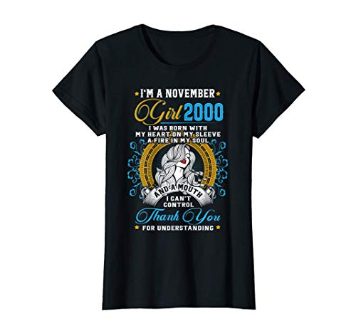 Awesome Since 2000 20th Birthday I'm A November Girl 2000 T-Shirt