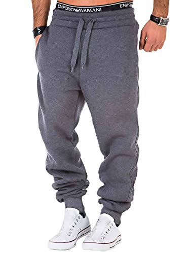 REPUBLIX Herren Sporthose Jogger Jogginghose Sweatpants Trainingshose R0704 Dunkelgrau 3XL