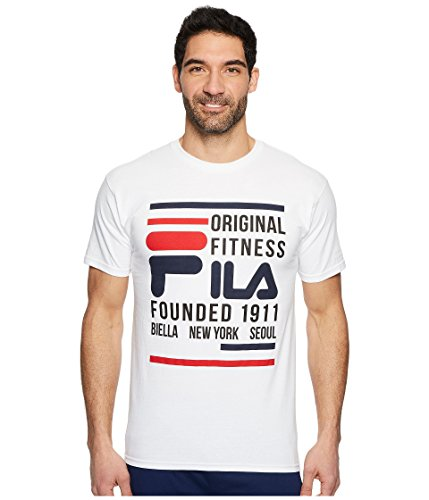 Fila Original Fitness Camiseta de manga corta para hombre - Blanco - XX-Large