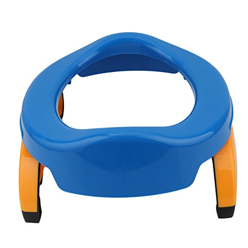Lalang Baby Kind Faltbarer Tragbar Reise Unterwegs Potty Töpfchen Toilettensitze Toiletten Trainer (blau)