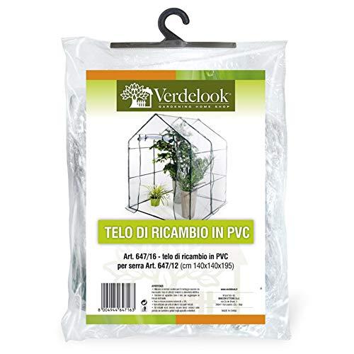 VERDELOOK Telo di Ricambio in PVC Trasparente per Serra a casetta codice 647/12