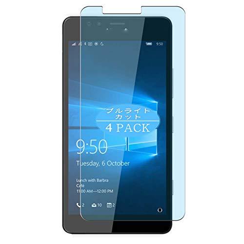 VacFun 4 Piezas Filtro Luz Azul Protector de Pantalla Compatible con Microsoft Lumia 950, Screen Protector Sin Burbujas Película Protectora (Not Cristal Templado) Anti Blue Light Filter New Version