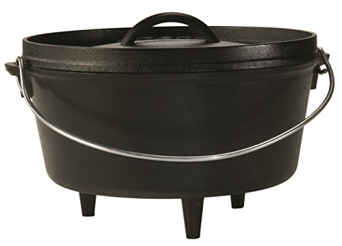Lodge 25,4 cm/4,7 liter/5 Quart hangers gietijzer outdoor/camp diep dutch oven