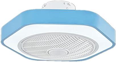 BBZZ Home Afstandsbediening Ventilatorlamp, acryl plafondlampen, eenvoudige en stijlvolle kinderslaapkamerverlichting, eet...