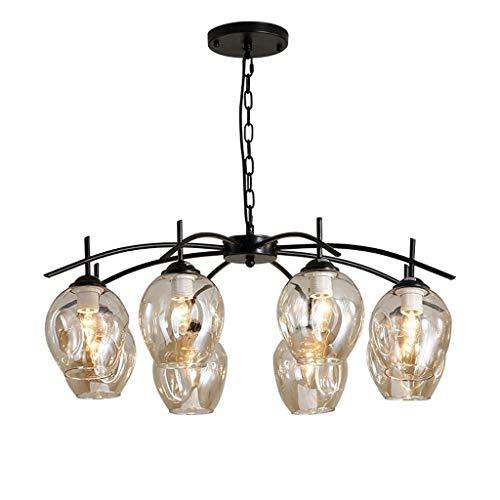 Kroonluchter hanglamp buislamp ijzer moderne lampen oorbellen antiek goud trapverlichting industrial 8 wapens nikkel geborsteld zwart hanglamp