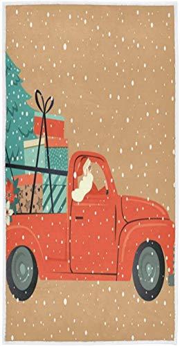 Truck Santa Claus beach towel soft towels set multipurpose,pool towel and spa bath towel for bathroom,face towel and spa dish towels gym and,bathroom towel ultra soft face towel bath