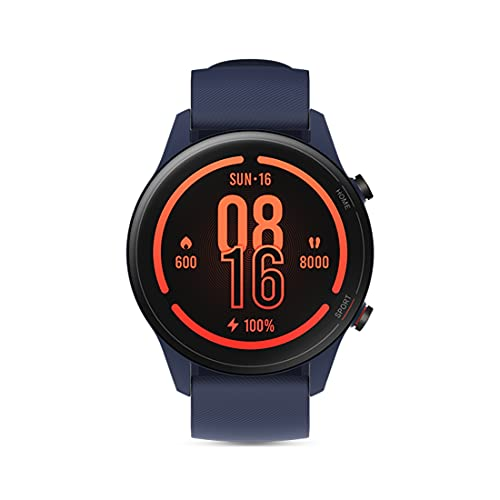 MI Watch Revolve Active (Blue) - 1.39' AMOLED Display, SpO2, GPS and Sleep Monitor, Alexa Built-in, 117 Sports Mode, Personalized...