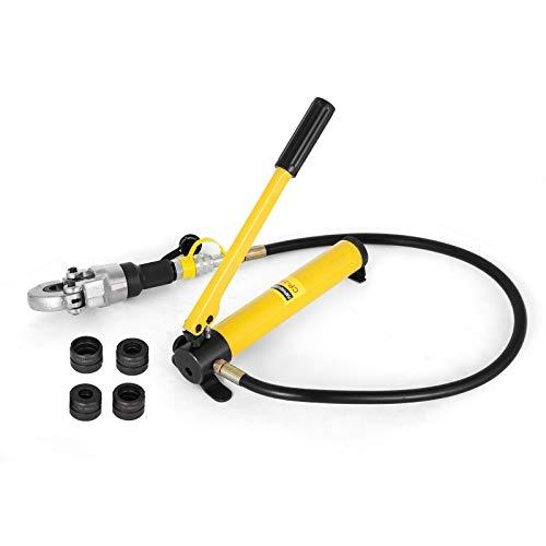 Frantools 6T Manuelle Hydraulische Zangen 16-32mm Handpresswerkzeug Set Hydraulisches Presswerkzeug für 0,6-1,6 Zoll U/TH-Rohr