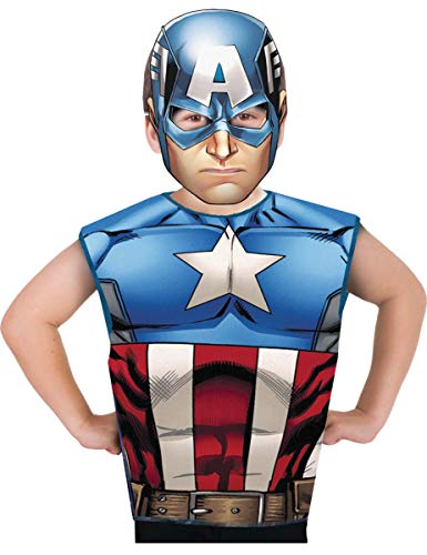Rubie's France - Marvel Heroes Kit Degui Captain America, I-620969, Taille Unique