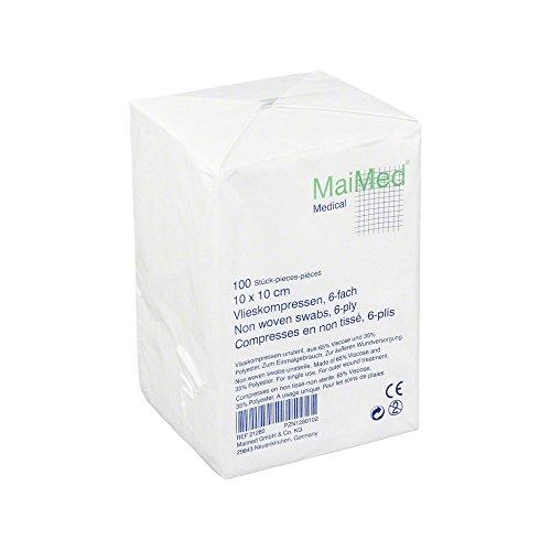 MaiMed VK Vlieskompressen 10x10cm unsteril 6fach (21280),100St