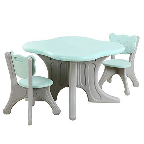 Tisch- Und Stuhlset Für Kinder, 1 Tisch 2 Stühle, BPA-frei, Stabil Und Leicht Zu Reinigen, Für Schreibspiele