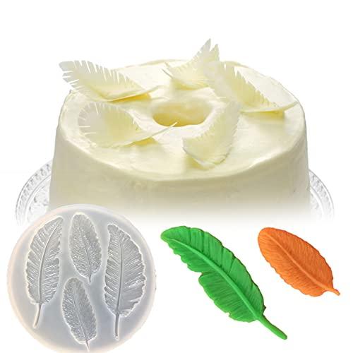 YUAN NUO Molde de Silicona con Forma de Pluma, Adecuado para Hacer Chocolate, Dulces Suaves, Dulces, decoración de Pasteles, Accesorios para Hornear de Cocina