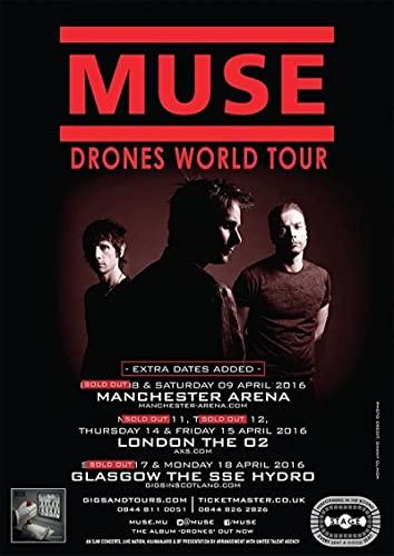 SIRIUSART Quadri Moderni Tela Muse Drones UK World Arena Tour Poster Wall Decor Rooming 60x90cm