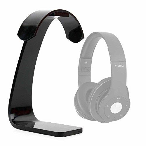 DURAGADGET Soporte para Auriculares Polk Audio Striker P1, Pro P1, Pro ZX, ZX/Vivitar V50012BT / August EP630, EP635, EP650B, EP650R, EP650W con recogecables. Color Negro.