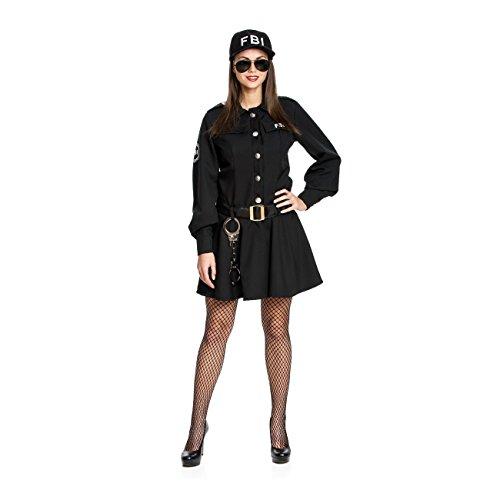 Kostümplanet® Polizei-Kostüm Damen sexy FBI Agentin Kostüm Polizistin Größe 48/50
