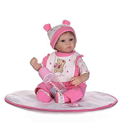 Reborn Baby Doll Soft Simulation Silikon Vinyl 40Cm Magnetischer Mund Lebensechte Toy Boy Girl Augen Offen