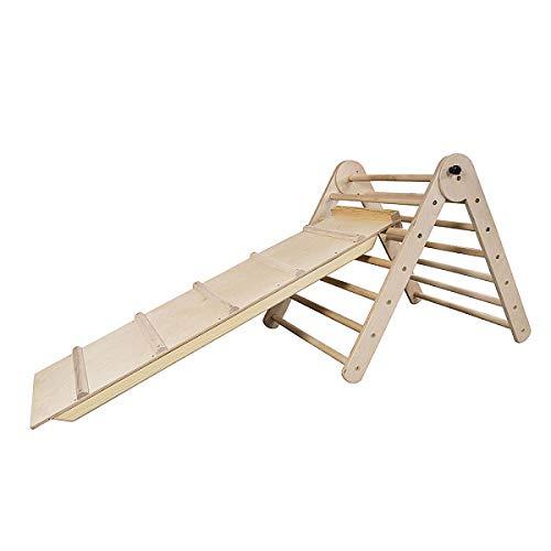 Triangolo pikler, triangolo a gradini'Pikler-65-Lak' scala rampicante per bambino, triangolo per bambini