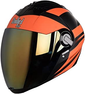 Steelbird SBA-2 Streak Glossy Black and Orange with Golden Visor,600 mm