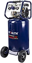 STEALTH Air Compressor, Ultra Quiet, Oil-Free and Long Life Cycle,1.8 Hp 20 Gallon Compressor with Large Rubber Wheels (Blue, SAQ-12018)