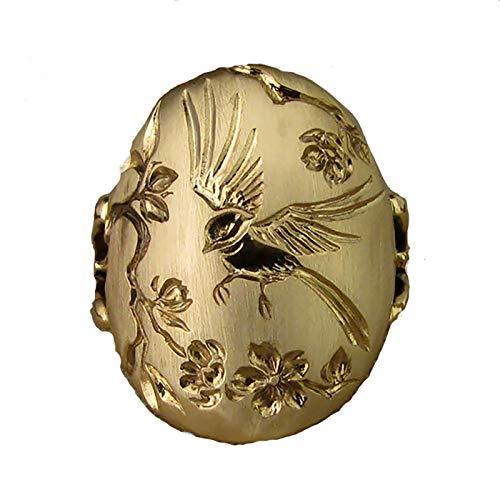 Ruby569y Anillo de pulgar vintage, diseño de pájaro, para mujer, diseño de pájaro, ideal para banquetes, unisex, tamaño ajustable, para mujeres, hombres y niñas, EE. UU. 9