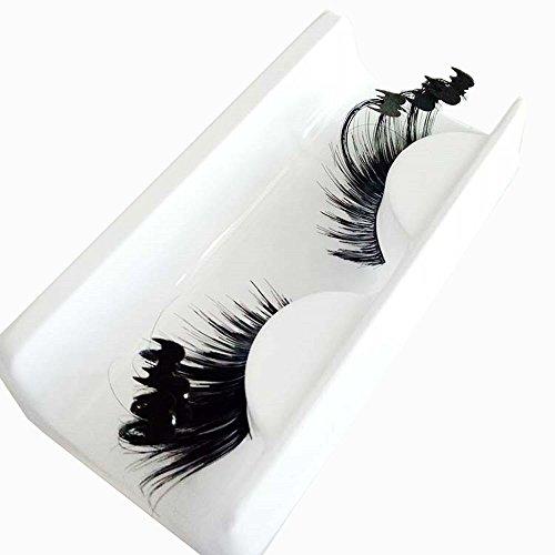 BZLine Halloween Party 3D faux cils bande de cils moelleux Exagéré Effet de scène Maquillage