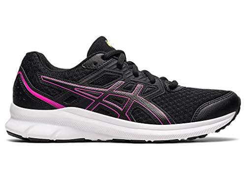 ASICS Women's Jolt 3 Running Shoes, 8.5, Black/HOT Pink