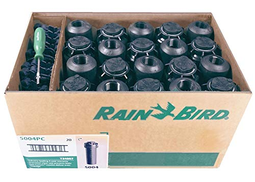 5000 Series Rotor Sprinkler Head - 5004 PC Model, Adjustable 40-360 Degree Part-Circle, 4 Inch Pop-Up Lawn Sprayer Irrigation System - 25 to 50 Feet Water Spray Distance (Y54007) (20 Pack Case)