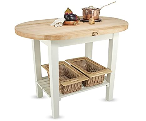 Amazon.com: John Boos Eliptical C-Table Kitchen Island Base Finish: Natural Maple, Shelves: Not Included: Home & Kitchen