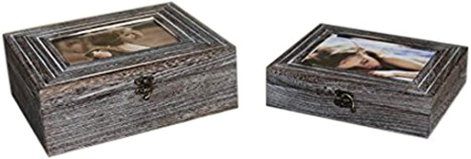 Screen Gems SGT73 Middle Century Style Wooden Storage Boxes