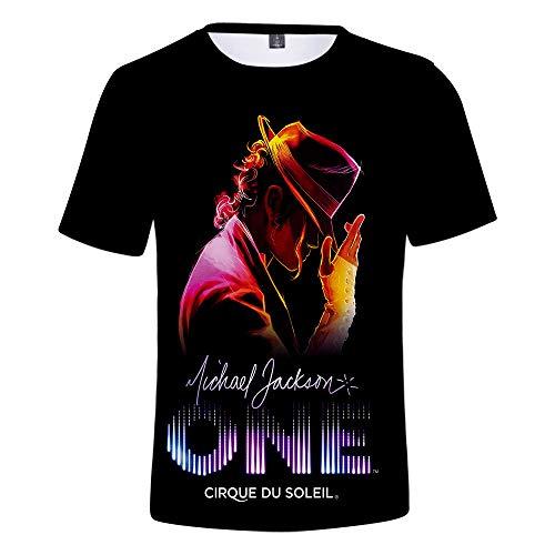 WFQTT Michael Joseph Jackson - Camiseta de manga corta 3D de Michael Jackson (A1, X-Small)