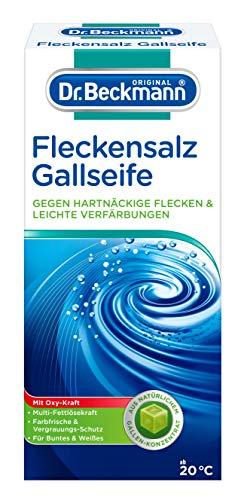 Dr. Beckmann Fleckensalz   gegen hartnäckige Flecken und leichte Verfärbungen   für die Waschmaschine und zum Einweichen   mit Gallseife (500 g)