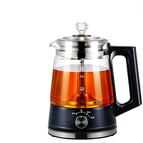 Electric Kettles With Tea Infuser, 1L Electric Tea Kettle Temperature Control,600W Fast Heating Glass Water Boiler For Tea Coffee,Auto Shut-Off And Boil-Dry Protectionblack insulation