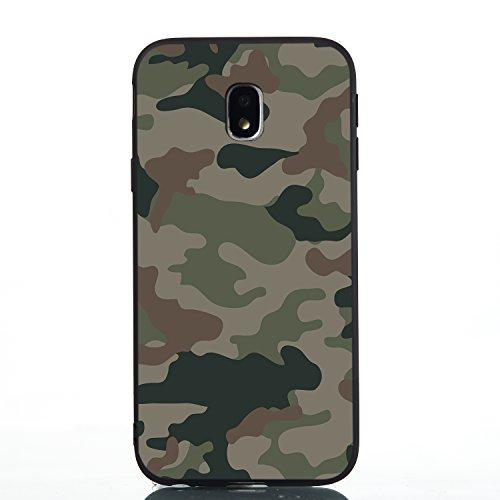 HopMore Cover per Samsung Galaxy J3 2017 Silicone Morbido Nero Disegni Fantasia Divertente Custodia Samsung J3 2017 Antiurto Case Morbide Gomma TPU Ultra Slim Protettiva Caso Molle - Verde