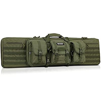 Savior Equipment American Classic Tactical Double Long Rifle Pistol Gun Bag Firearm Transportation Case w/Backpack - 42 Inch Olive Drab Green