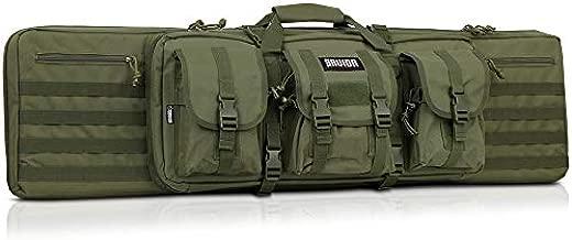 Savior Equipment American Classic Tactical Double Long Rifle Pistol Gun Bag Firearm Transportation Case w/Backpack - 36 Inch Olive Drab Green