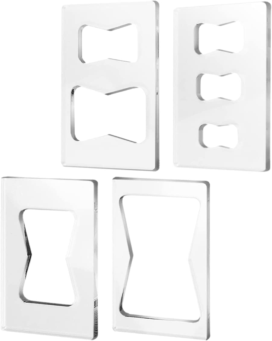 POWERTEC 71105 Butterfly Key Inlay Template Set (4pc)   Decorative Templates For Woodworking - -
